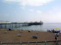 Brighton Pier and Beach in Brighton, East Sussex