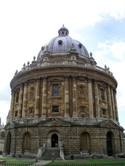 On the Oxford campus - The Radcliffe Camera