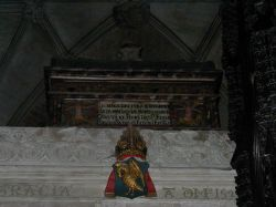 Funeral chest in Winchester Cathedral