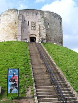 Clifford's Tower, York, North Yorkshire.