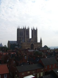 Lincoln Cathedral from Castle Walls, Lincoln