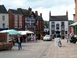 The main street, market day, Ashbourne, Derbyshire.