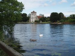 All Saints Church in Bisham, Berkshire, along the river Thames. August 2006
