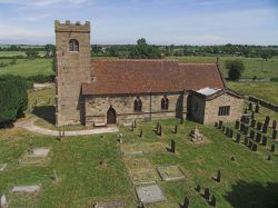The Church of St James in the village of Swarkestone, Derbyshire.