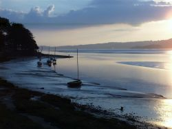 Sunset over the Kent estuary, Arnside, Cumbria, September 2006.