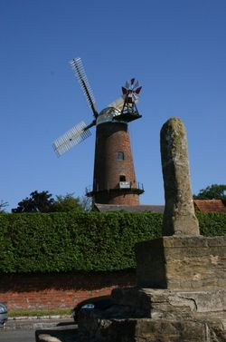 Quainton Windmill and Stone cross, Quainton, Buckinghamshire.