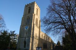 A picture taken at Sibsey Parish Church one sunny day, Lincolnshire.