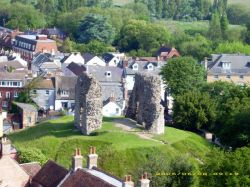 The Castle from Christchurch Priory Tower, Christchurch, Dorset
