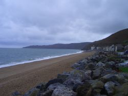 The beach at Beesands, Devon.