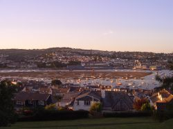 Teignmouth from Botanical Gardens in Shaldon, Devon.