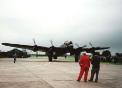 East Kirkby Aviation Centre - A day when a Lancaster Bomber taxied down the run way