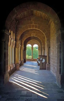 Cloister at Hoarwithy Church, Hoarwithy, Herefordshire.