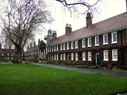 The Geffrye Museum, London. Main elevation of Alms Houses.