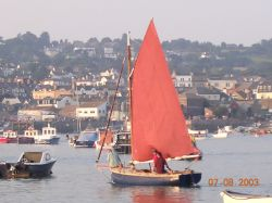 Sailing on the Teign, Shaldon, Devon.