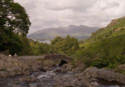 Ashness Bridge, Derwentwater, Keswick, Cumbria.