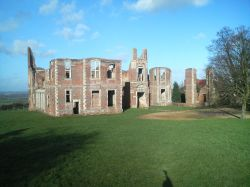 a picture of the remains of Houghton house