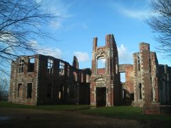 A picture of the remains of Houghton house, Bedfordshire