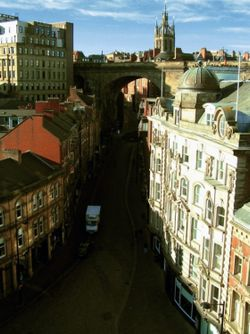 From the Tyne Bridge, Newcastle upon Tyne, February 2007.