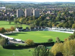 Worcestershire Cricket Ground from Cathedral Spire