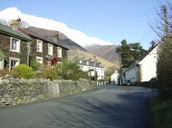 Threlkeld, Cumbria. Blencathra wreathed in a thin layer of cloud. Image taken 17-02-07