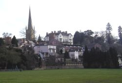 A view of Ross-on-Wye from the Riverside