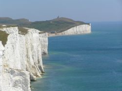 The Seven Sisters (chalk cliffs), looking east, Sussex
