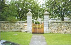 Gates leading to Meaburn Hall, Maulds Meaburn, Cumbria