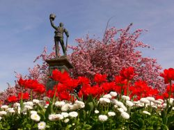The Boer War monument in Whitehead Gardens, Bury, Lancs.