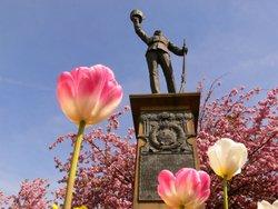 The Boer War monument, Whitehead Gardens, Bury, Lancs.