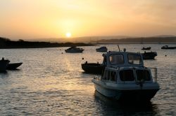 Sunrise over the Isle of Wight, looking from Keyhaven, Hampshire