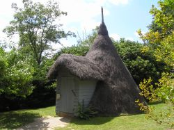 Ice House at Scotney castle, Kent.  This is thatched with heather.