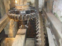 Water mill machinery at Batemans, Rudyard Kipling's home in Burwash, East Sussex.