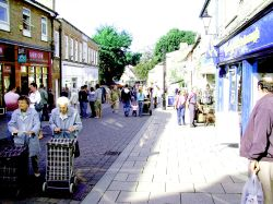 Thetford Pedestrian Shopping area. Thetford, Norfolk