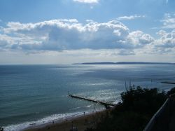 View out to sea at Bournemouth