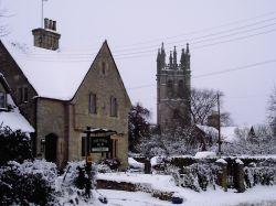 Lovely picture of the Cotswold village of Churchill, Oxfordshire