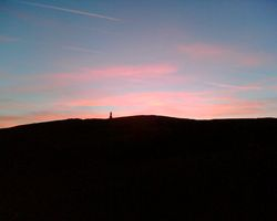 Darwen Tower at sunset, Darwen, Lancashire.