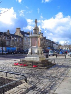 War Memorial , Bishop Auckland market place, Bishop Auckland, County Durham
