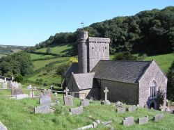 Branscombe parish church, South Devon.  Normally a peaceful, pretty village.