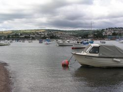 Teignmouth harbour, South Devon, on a rather dull day.
