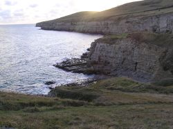 Winspit is a piece of rocky coast not far from Lulworth Cove on the Dorset coast.