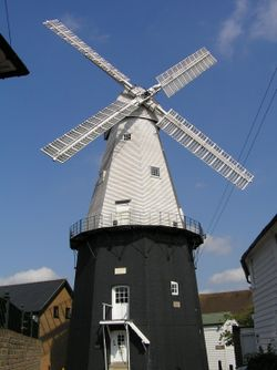Built in 1814. Union Windmill is the finest working Smock windmill in England, Cranbrook, Kent