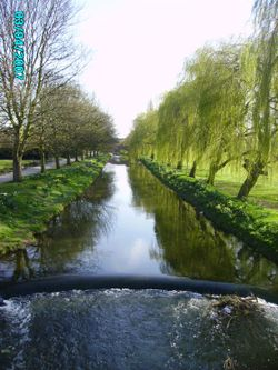 Kings Park in Retford, Nottinghamshire. - Chesterfield Canal runs through the centre of the park.