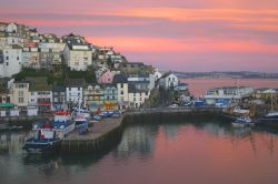 Sunset in the harbour, Brixham, Devon