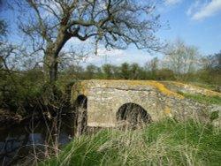 Sandham Bridge over Rothley Brook at Thurcaston, Leicestershire, c.16th century pack horse bridge