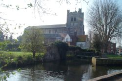 Waltham Abbey church viewed from Abbey gardens