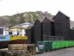 Hastings, Fishnet Drying Sheds, East Sussex