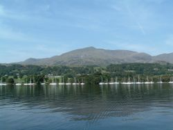 The old man of Coniston taken from Coniston water. Coniston, Cumbria