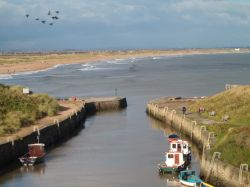 Views of the Harbour and Beach at Seaton Sluice, Northumberland