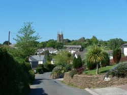 looking over Stratton, Cornwall, from Howards lane