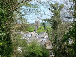 looking over Stratton from union hill. Stratton, Cornwall